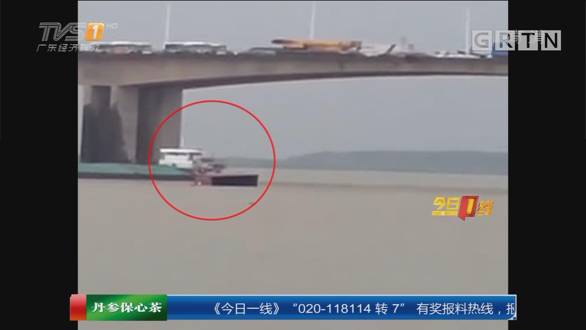 珠海:货车撞断栏杆 飞车坠海司机失联