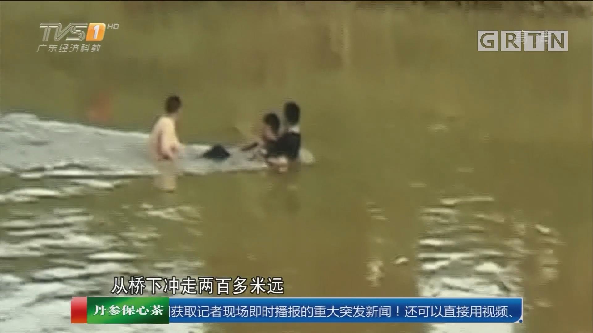 东莞塘厦:男子河中遇险 巡逻队员英勇救人