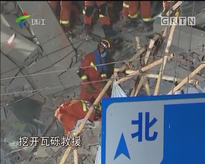 上海华江路一楼房倒塌五死一伤