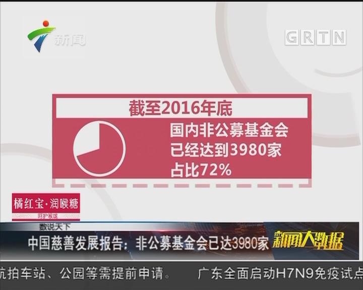 中国慈善发展报告:非公募基金会已达3980家
