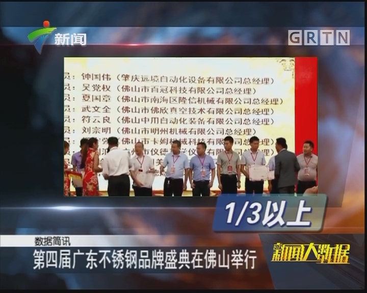 第四届广东不锈钢品牌盛典在佛山举行