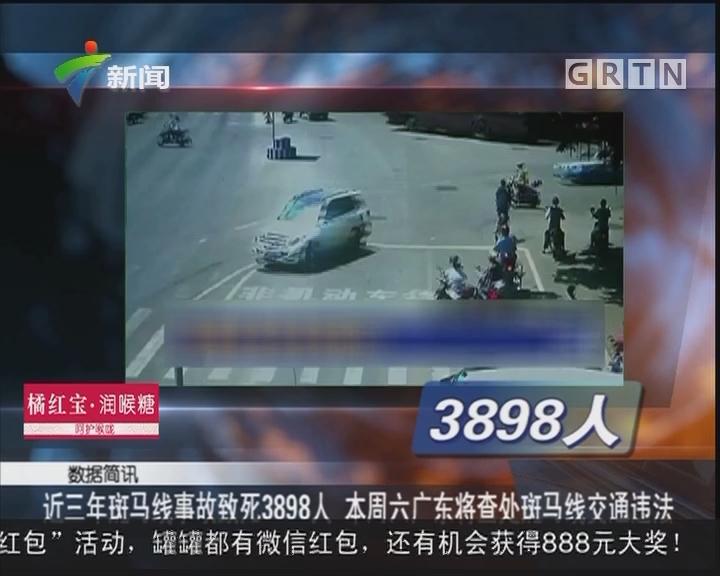 近三年斑马线事故致死3898人 本周六广东将查处斑马线交通违法