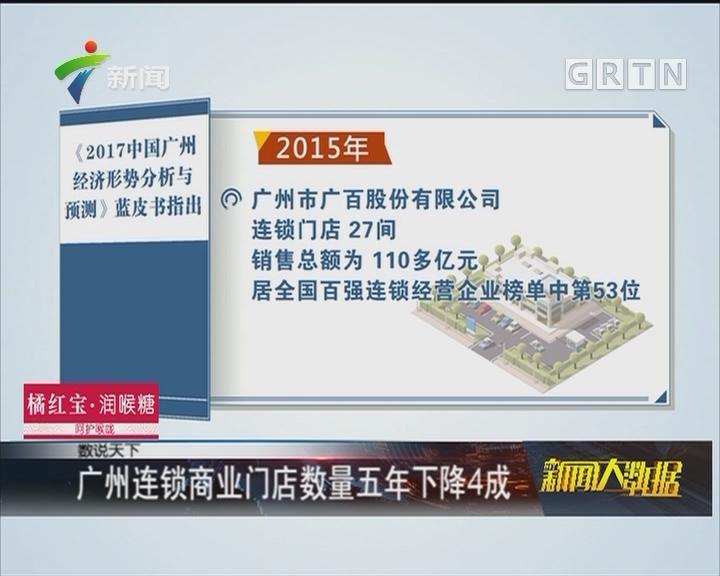 广州连锁商业门店数量五年下降4成