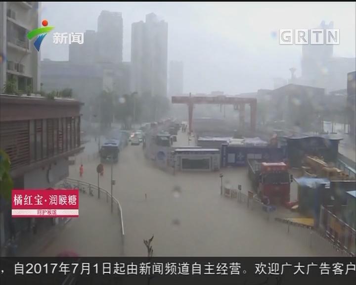 深圳:红色暴雨袭击盐田 多个路段严重积水