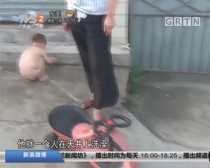 """佛山顺德:五岁""""小司机""""独自骑行一公里"""