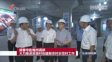 胡春华赴梅州调研 大力推进贫困村创建新农村示范村工作