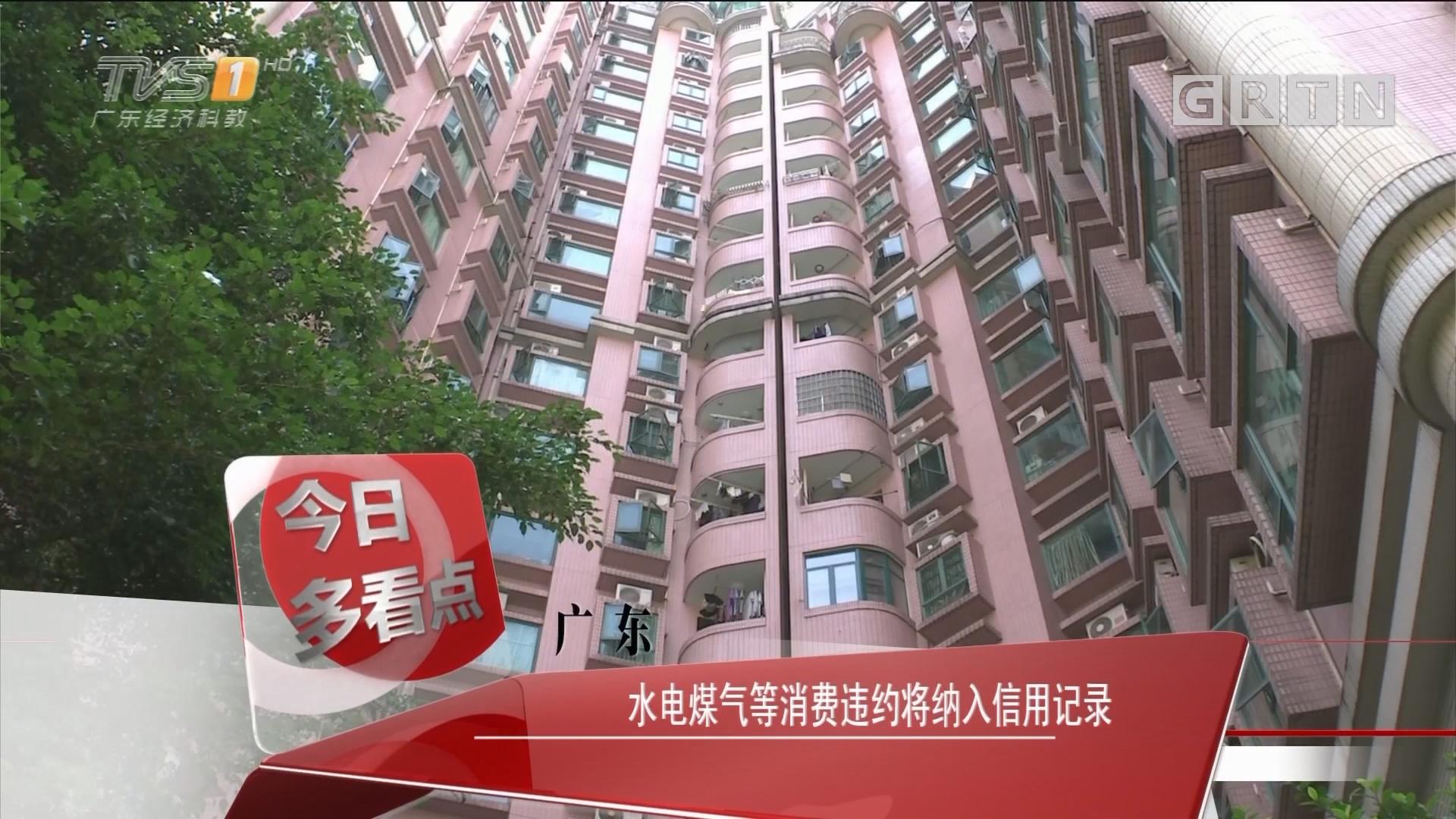 广东:水电煤气等消费违约将纳入信用记录