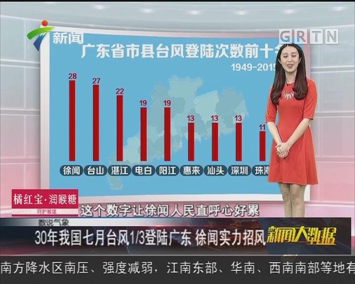 30年我国七月台风1/3登陆广东 徐闻实力招风
