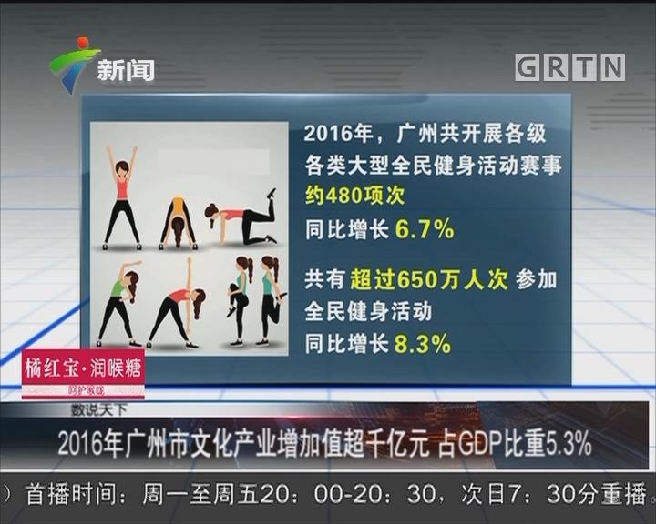 2016年广州市文化产业增加值超千亿元 占GDP比重5.3%