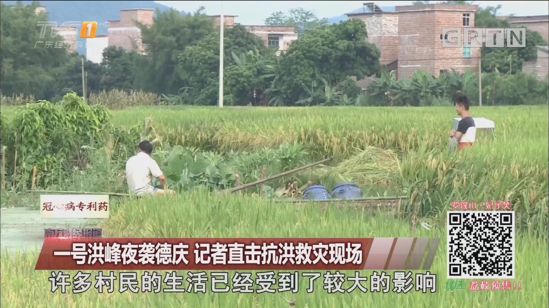 一号洪峰夜袭德庆 记者直击抗洪救灾现场