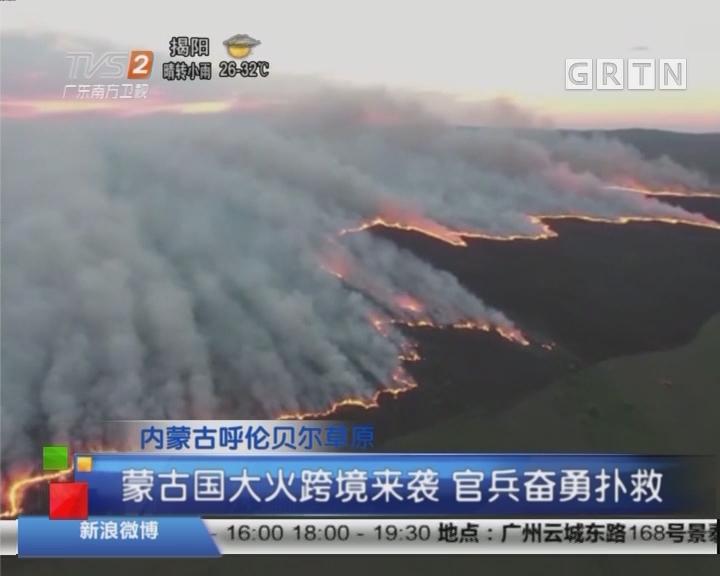 内蒙古呼伦贝尔草原:蒙古国大火跨境来袭 官兵奋勇扑救