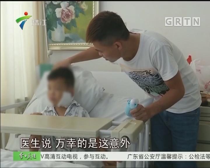 中山:4岁男童被狗咬掉脸上一块肉