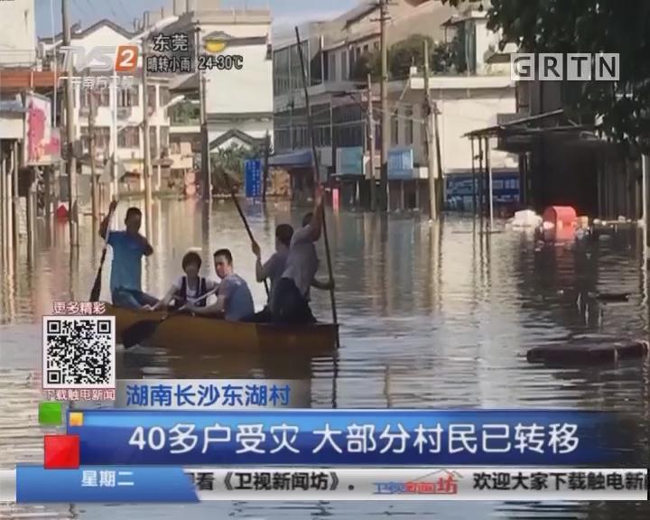 湖南长沙东湖村:村庄内涝 水位最高近4米