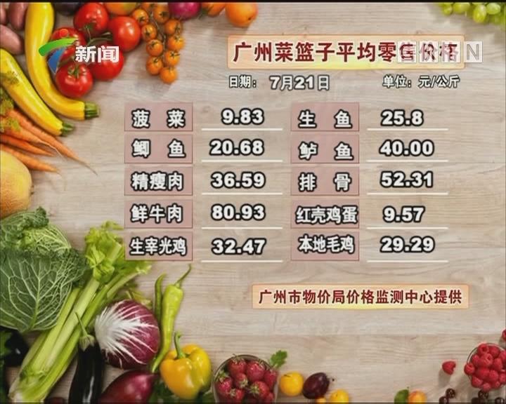 20170722广州菜篮子平均零售价格