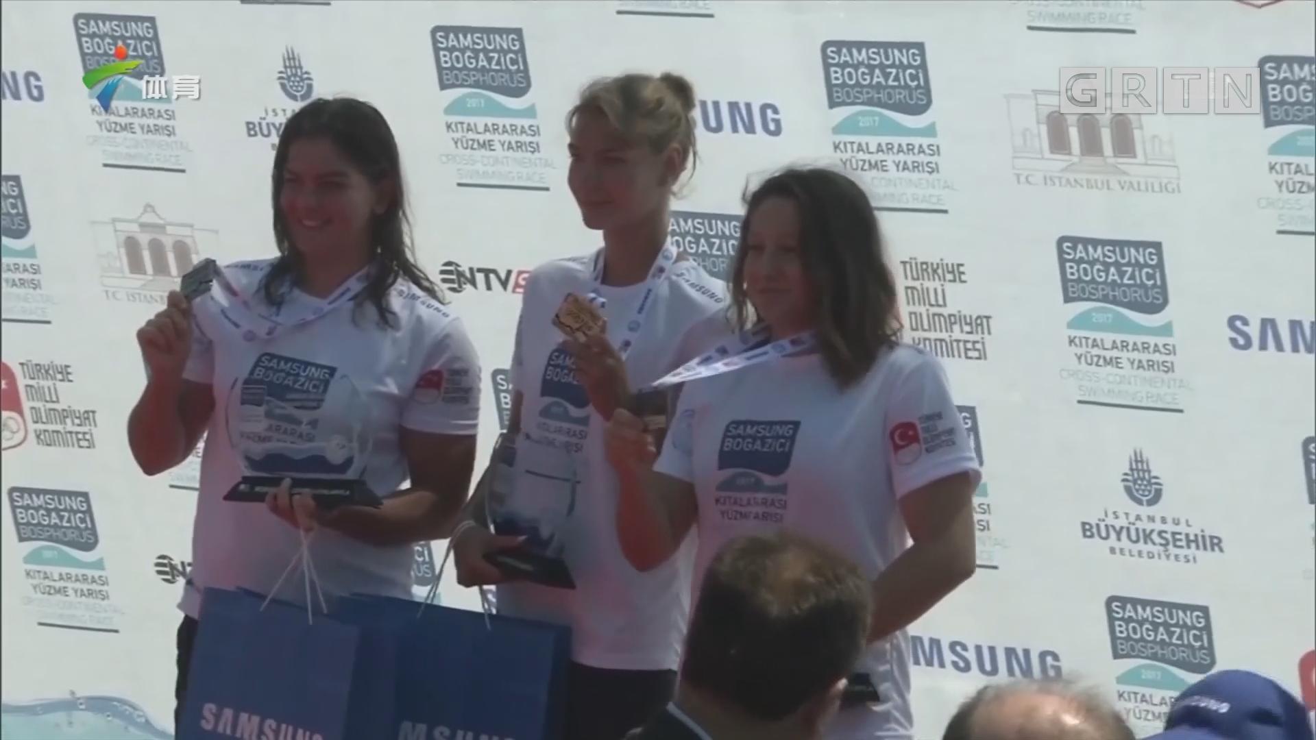 洲际跨海游泳比赛 叶利谢耶夫夺男子第一
