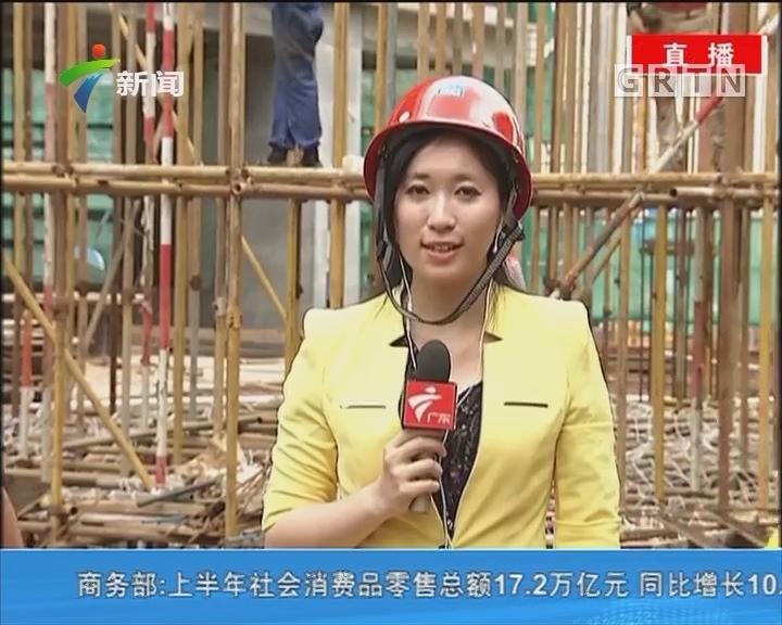 大暑天 建筑工人坚持高温作业