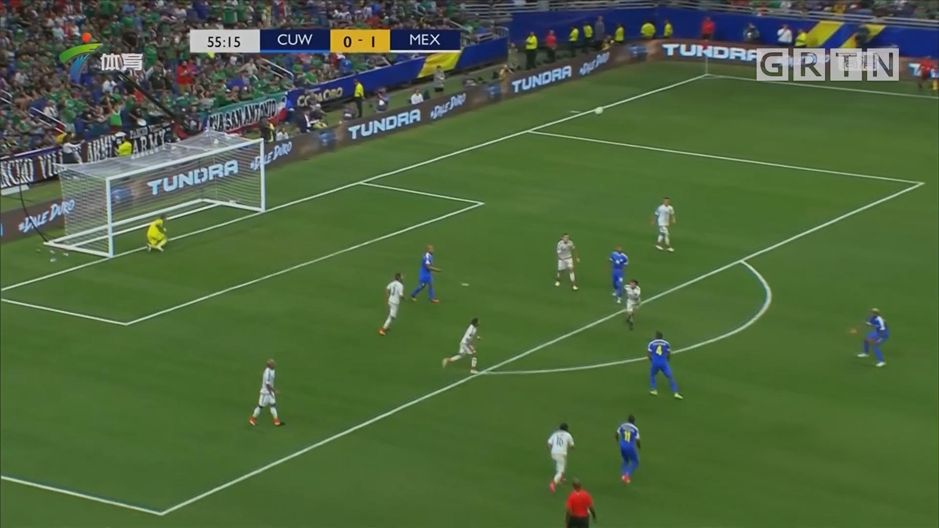 美金杯 阿尔瓦雷斯处子球 墨西哥完胜库拉索