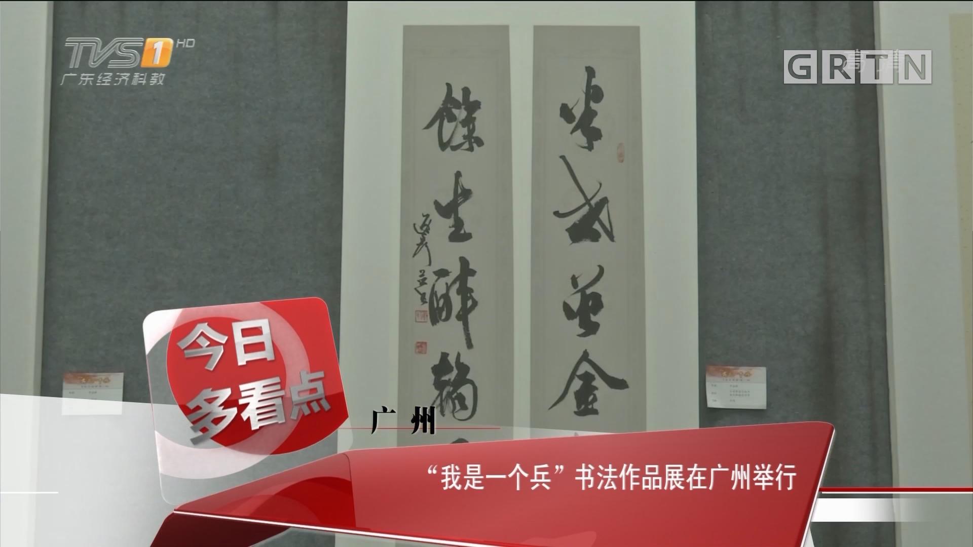 """广州:""""我是一个兵""""书法作品展在广州举行"""