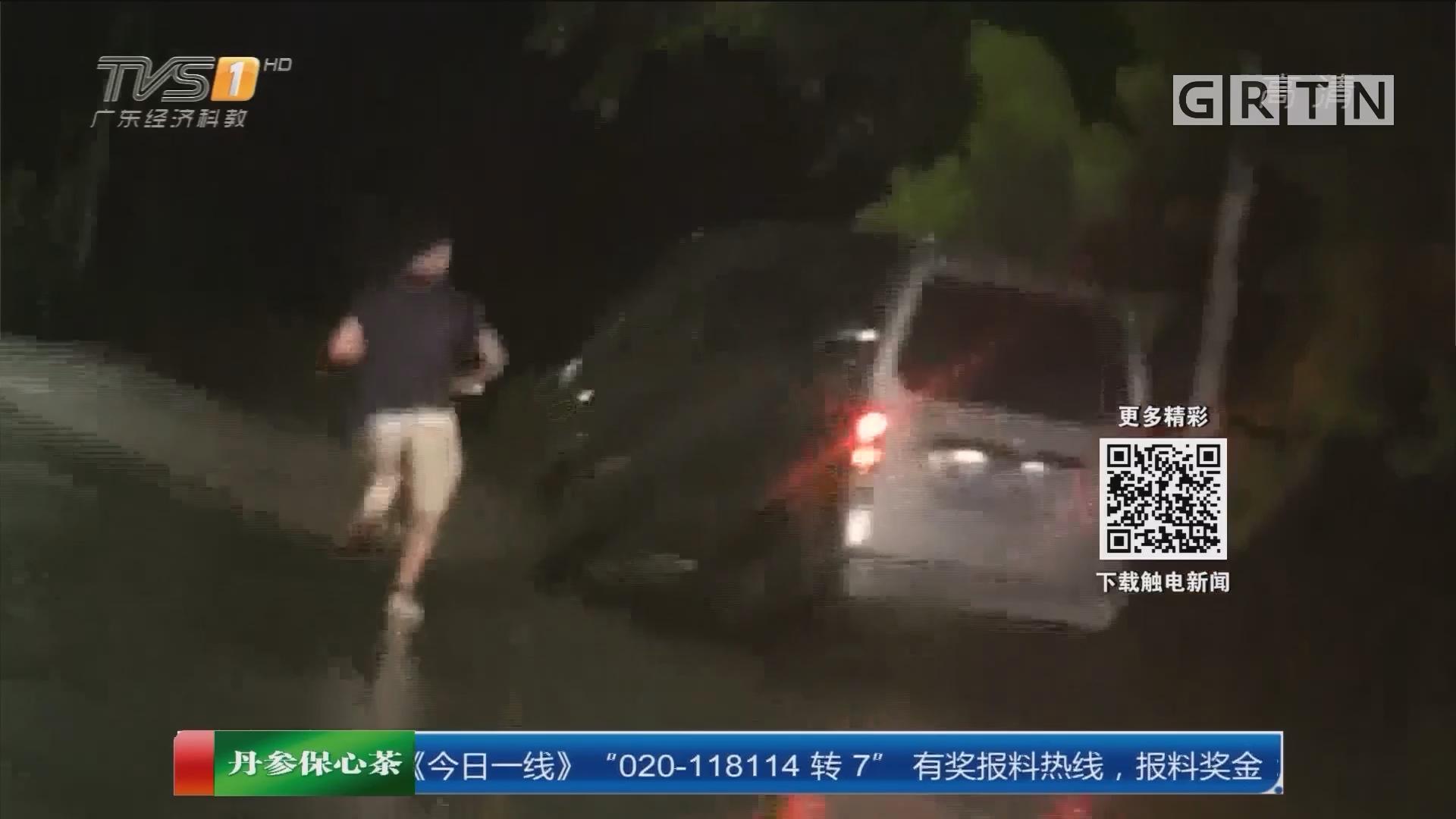 惠州大亚湾:疯狂偷车贼开车对撞拒捕 一人落网