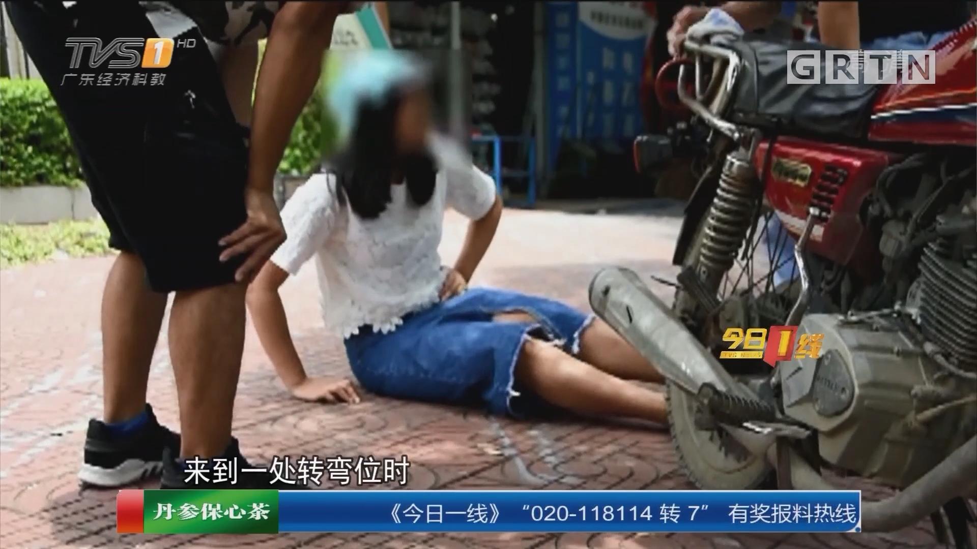 江门:假扮孕妇乘车摔伤 勒索1万5