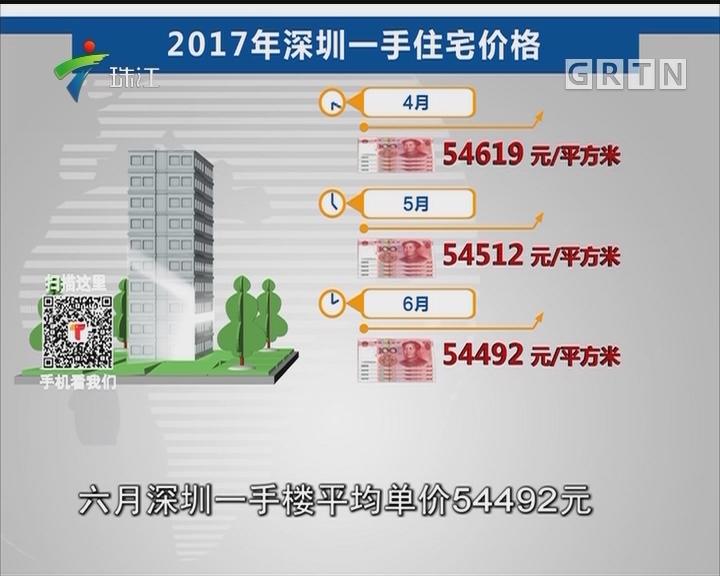 深圳一手楼价格连续九月下跌