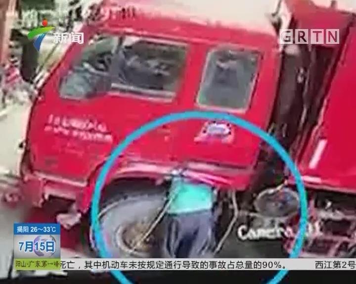 广西玉林:轮胎突然爆炸 修车工人被炸飞不幸身亡
