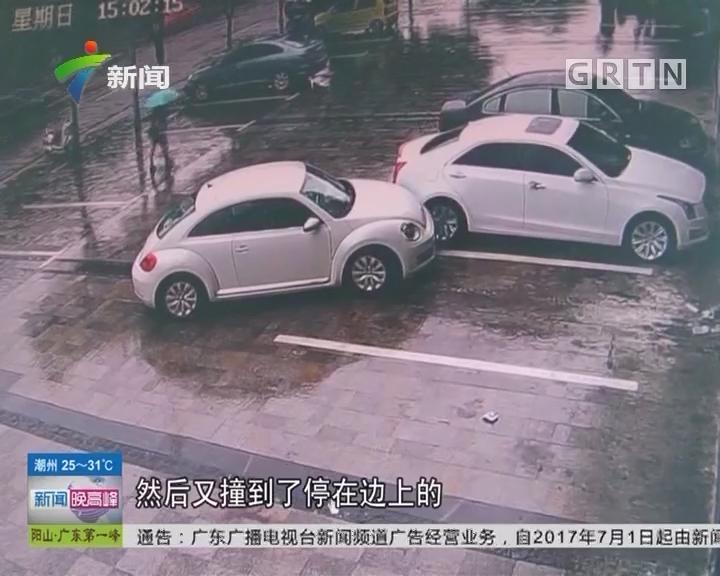 江西赣州:女司机无证醉驾 连撞11辆车