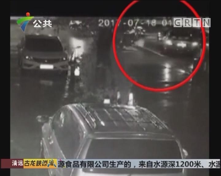 肇庆:路边车辆莫名受损 部分车头几近变形