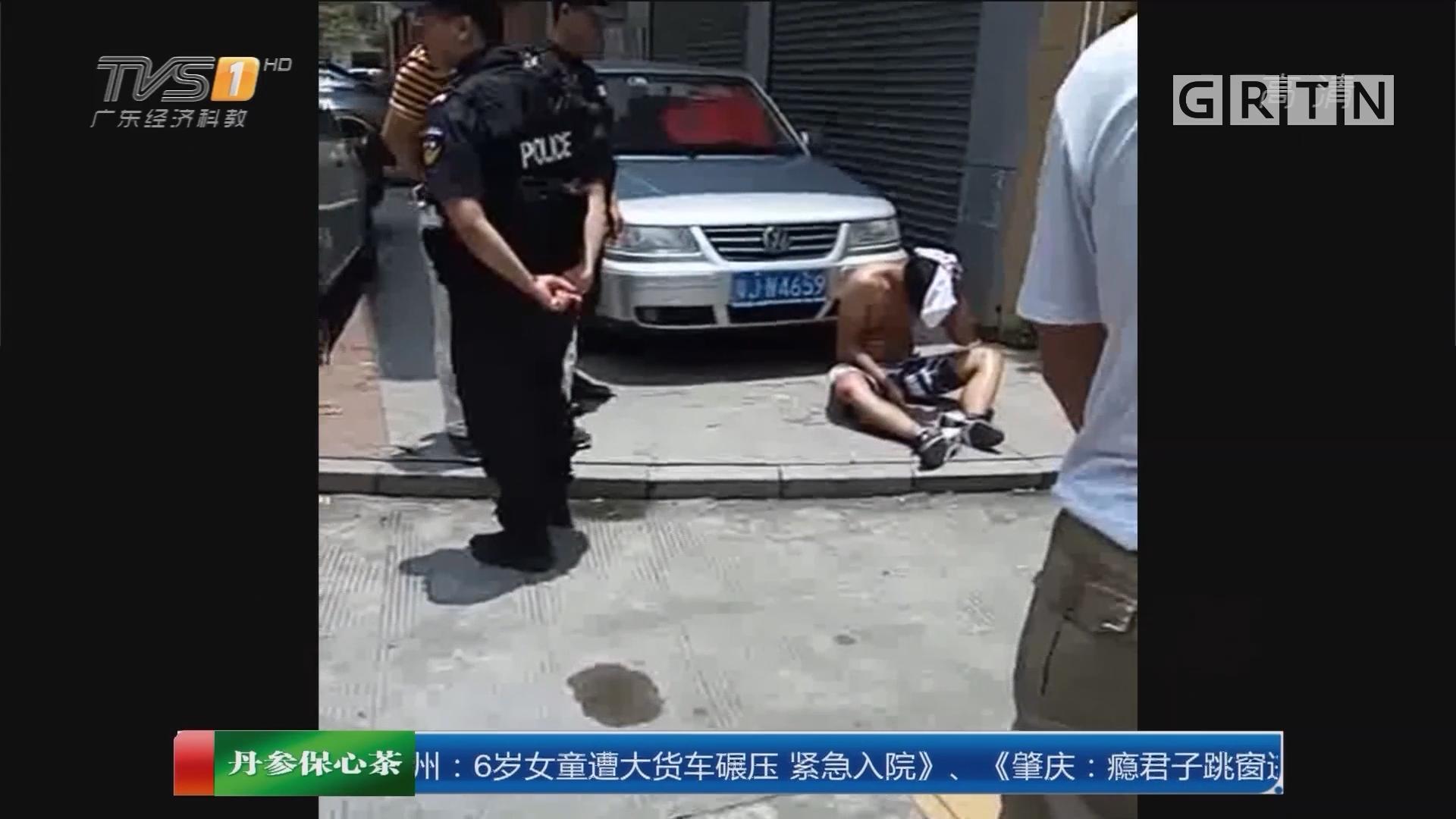 江门恩平:男子涉嫌偷车被当街追打 已被行拘