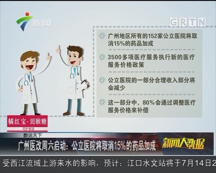 广州医改周六启动:公立医院将取消15%的药品加成