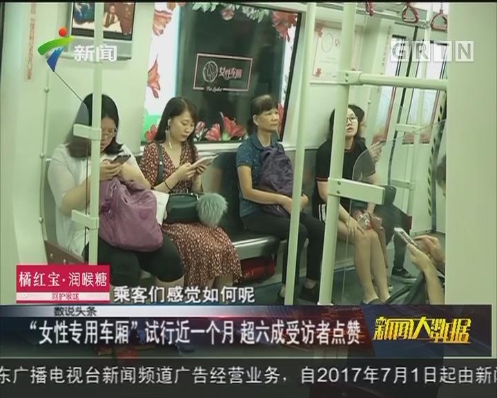 """""""女性专用车厢""""试行近一个月 超六成受访者点赞"""