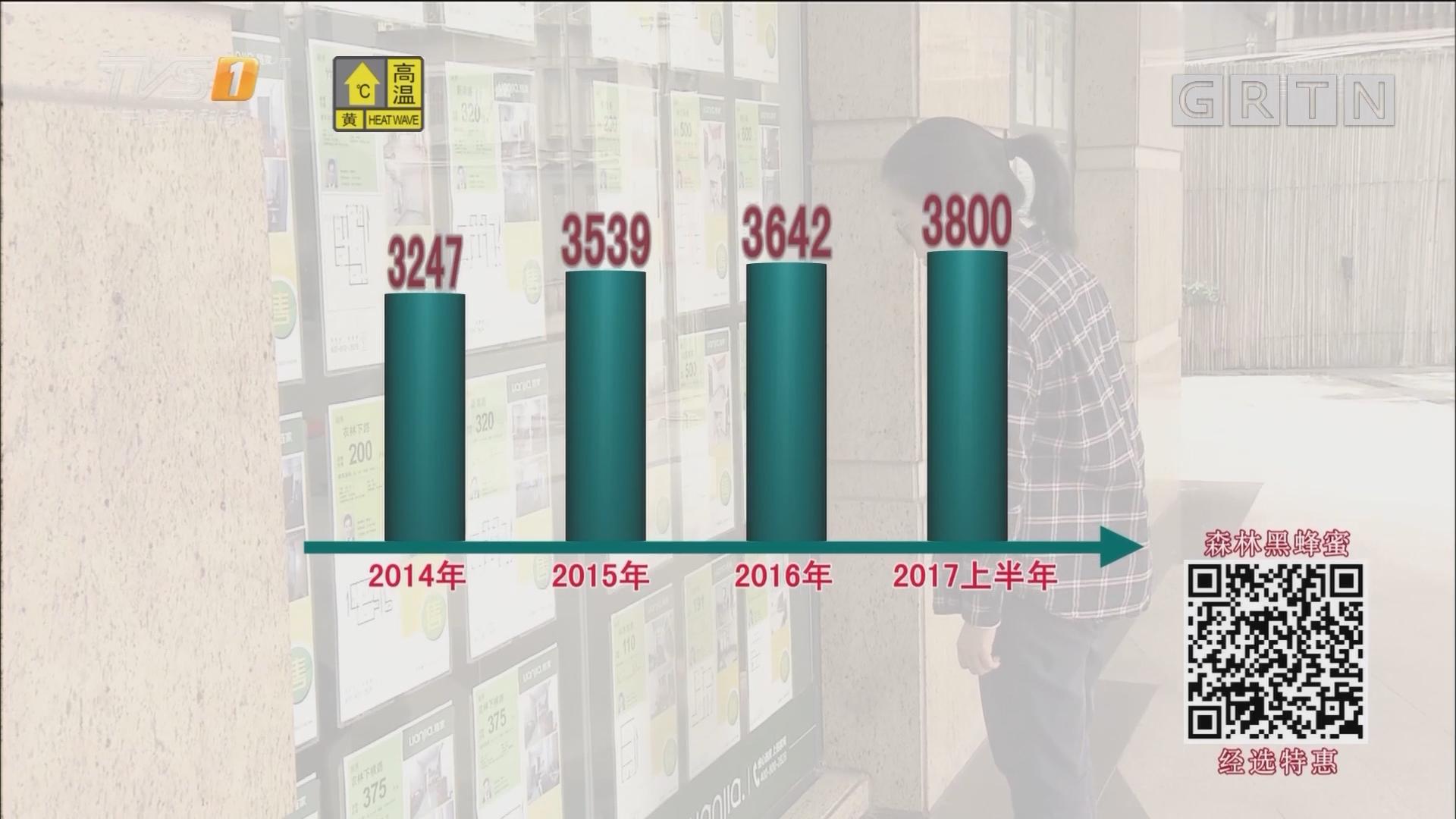 广州:房租占去收入近四成 好在上半年涨幅放缓