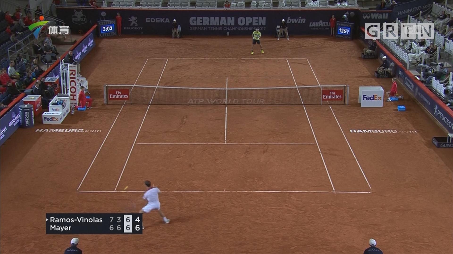 汉堡网球公开赛首轮爆冷 头号种子遭淘汰