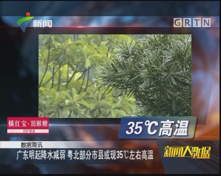 广东明起降水减弱 粤北部分市县或现35℃左右高温