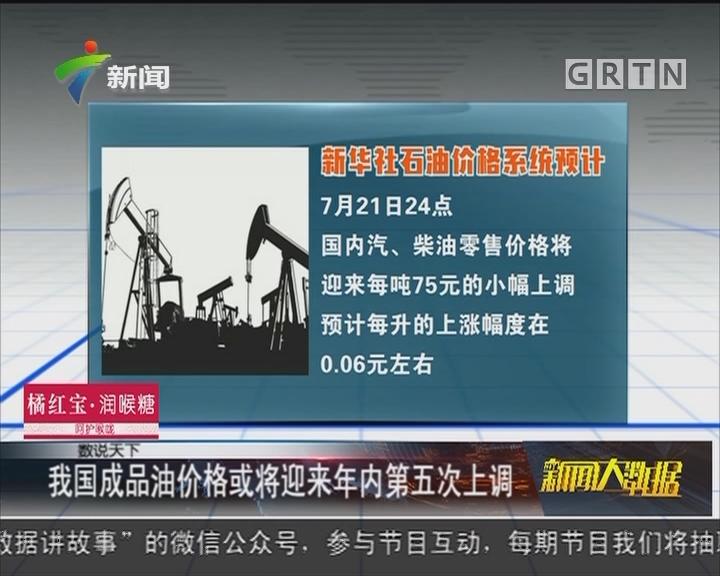 我国成品油价格或将迎来年内第五次上调