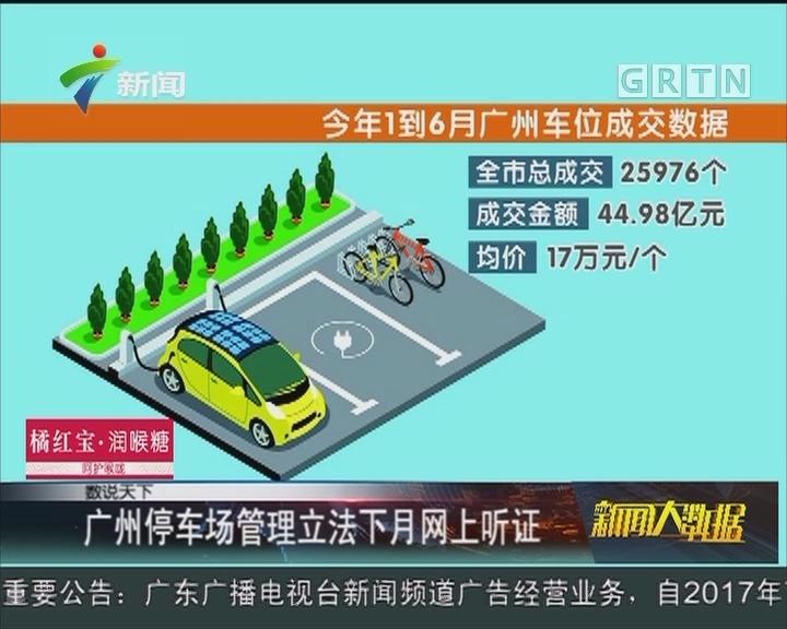 广州停车场管理立法下月网上听证