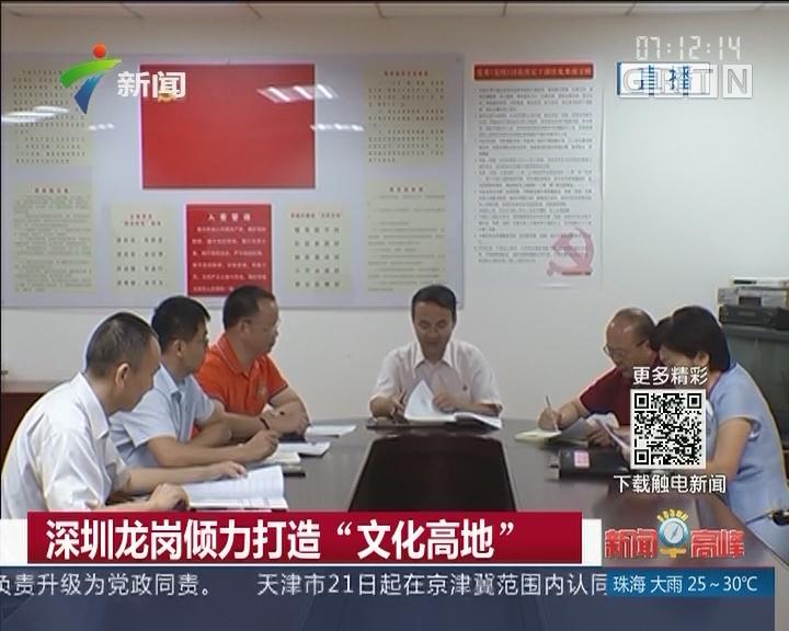 """深圳龙岗倾力打造""""文化高地"""""""