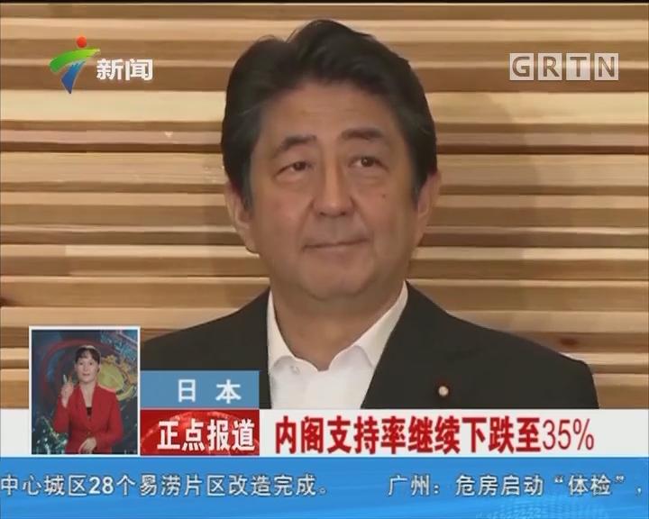 日本:内阁支持率继续下跌至35%