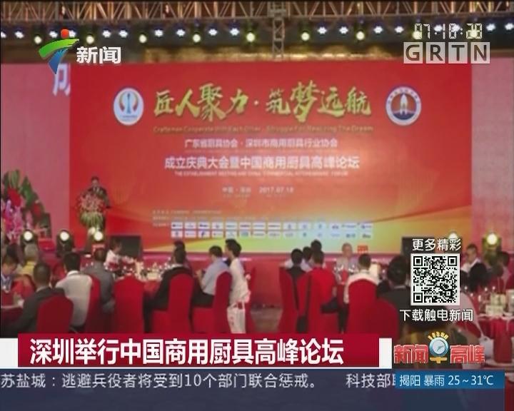 深圳举行中国商用厨具高峰论坛