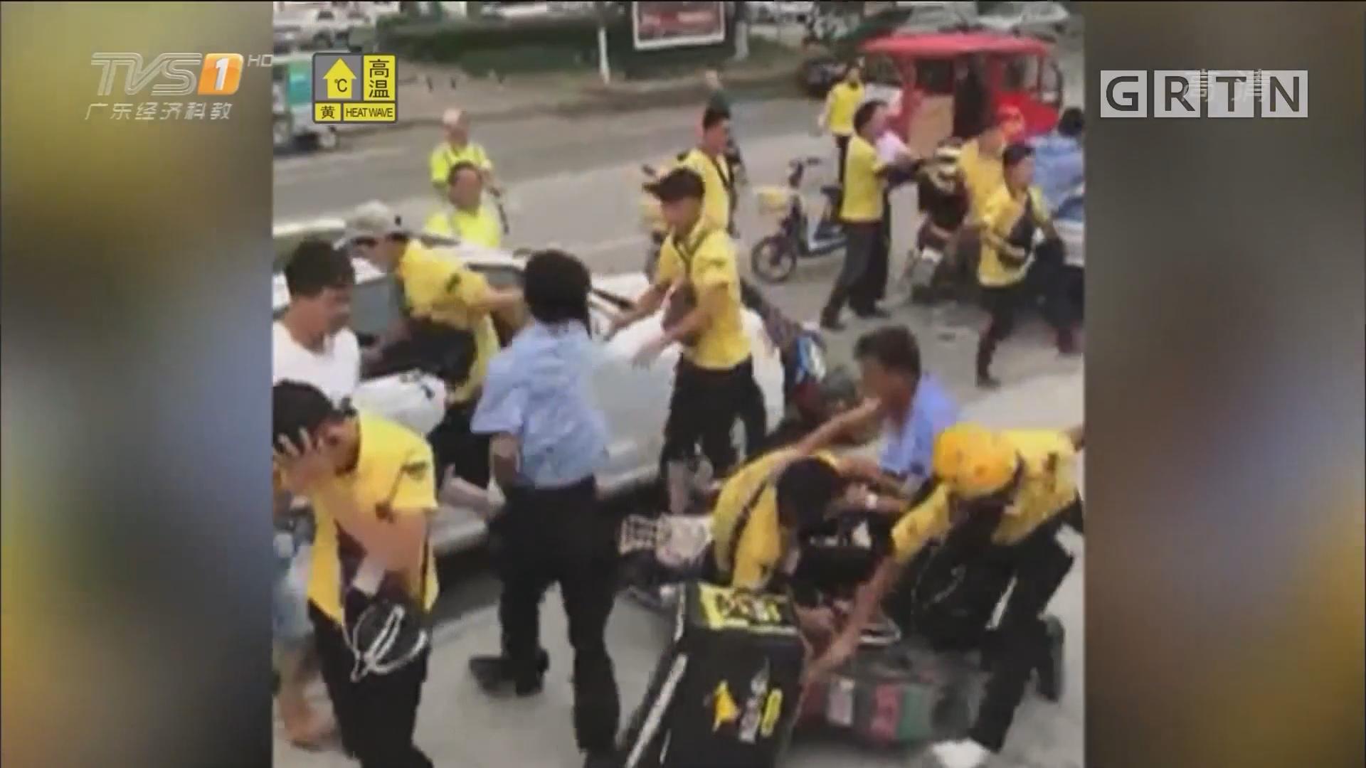 北京:送餐员与保安群殴 只因送餐车被锁