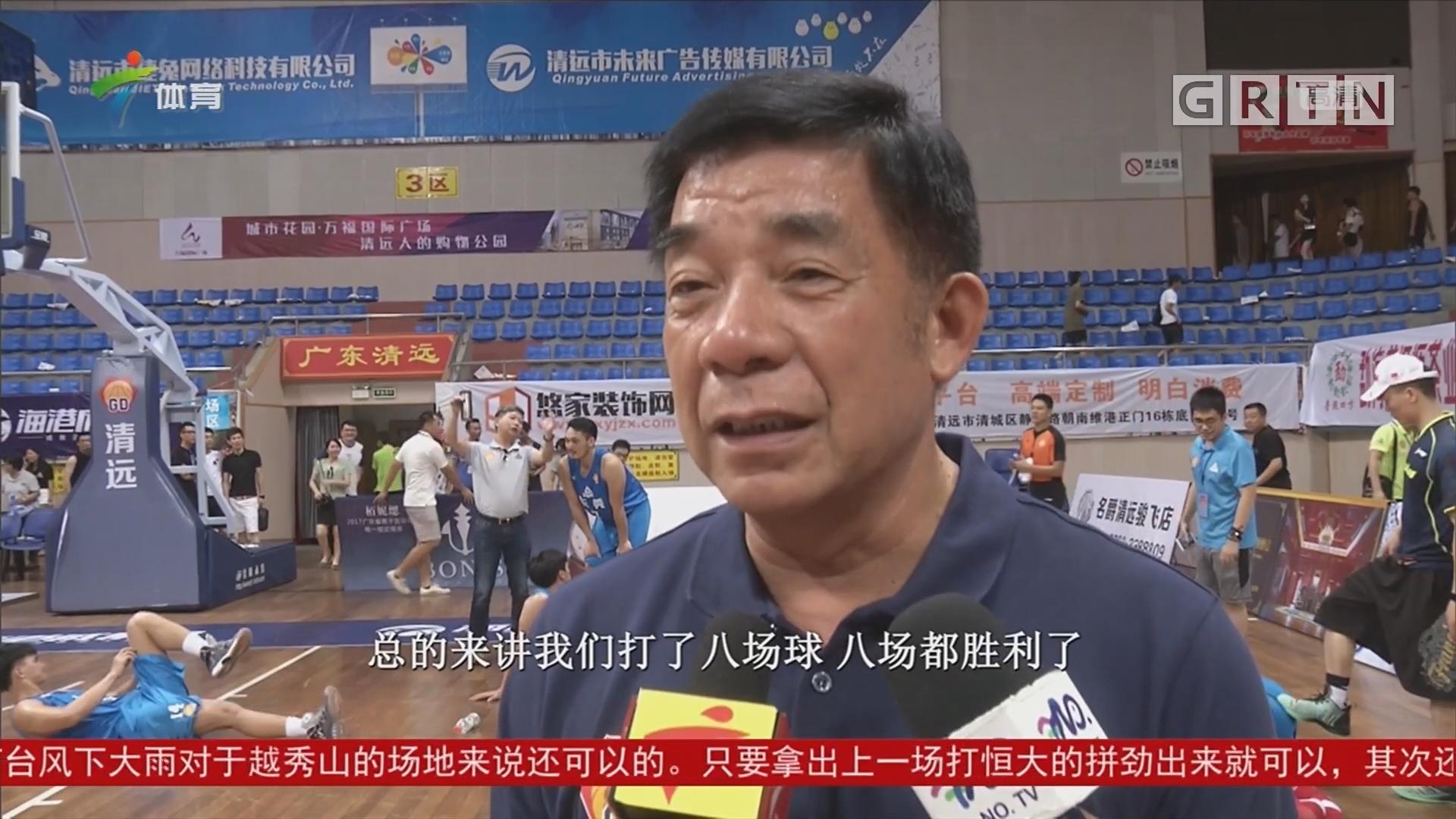 广东省篮球联赛 东莞队小组赛不败晋级