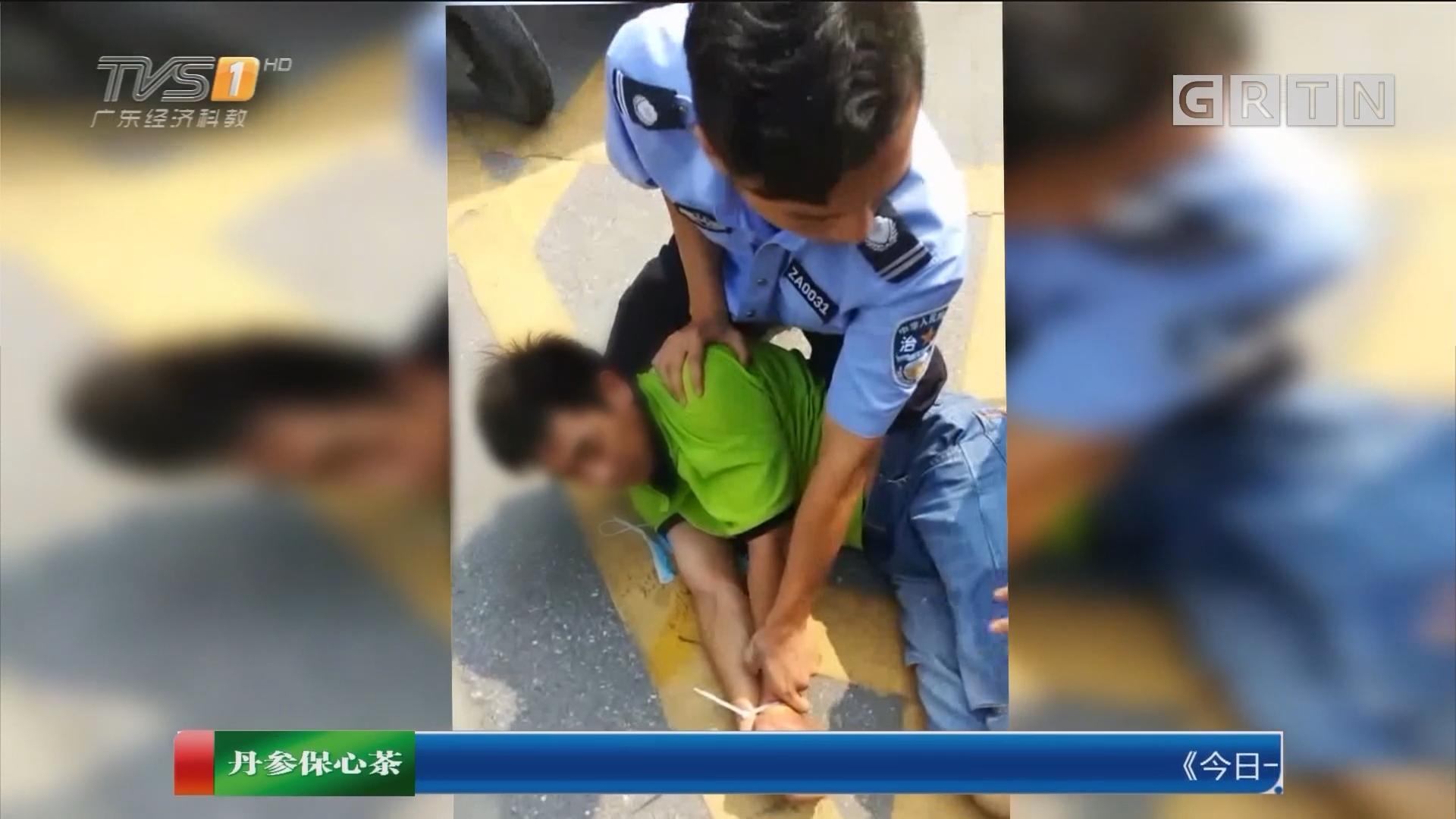 广东佛山:男子持刀伤人逃跑 热心街坊穷追不舍
