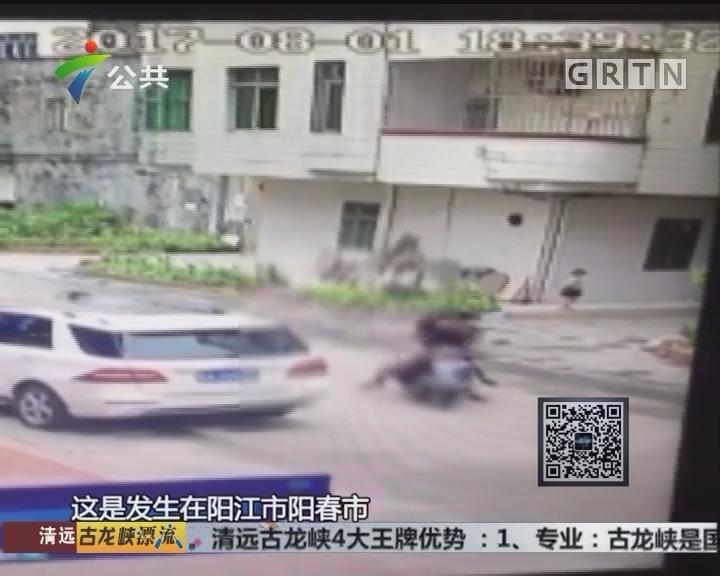 阳江:摩托撞人后逃逸 警方全力追捕