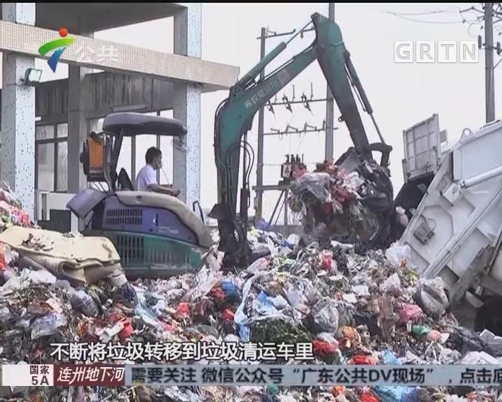 南沙:垃圾转运不畅 大量堆积路边