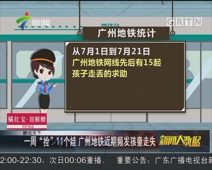 """一周""""捡""""11个娃 广州地铁近期频发孩童走失"""