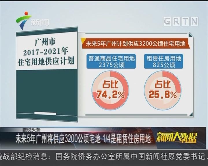 未来5年广州将供应3200公顷宅地 1/4是租赁住房用地