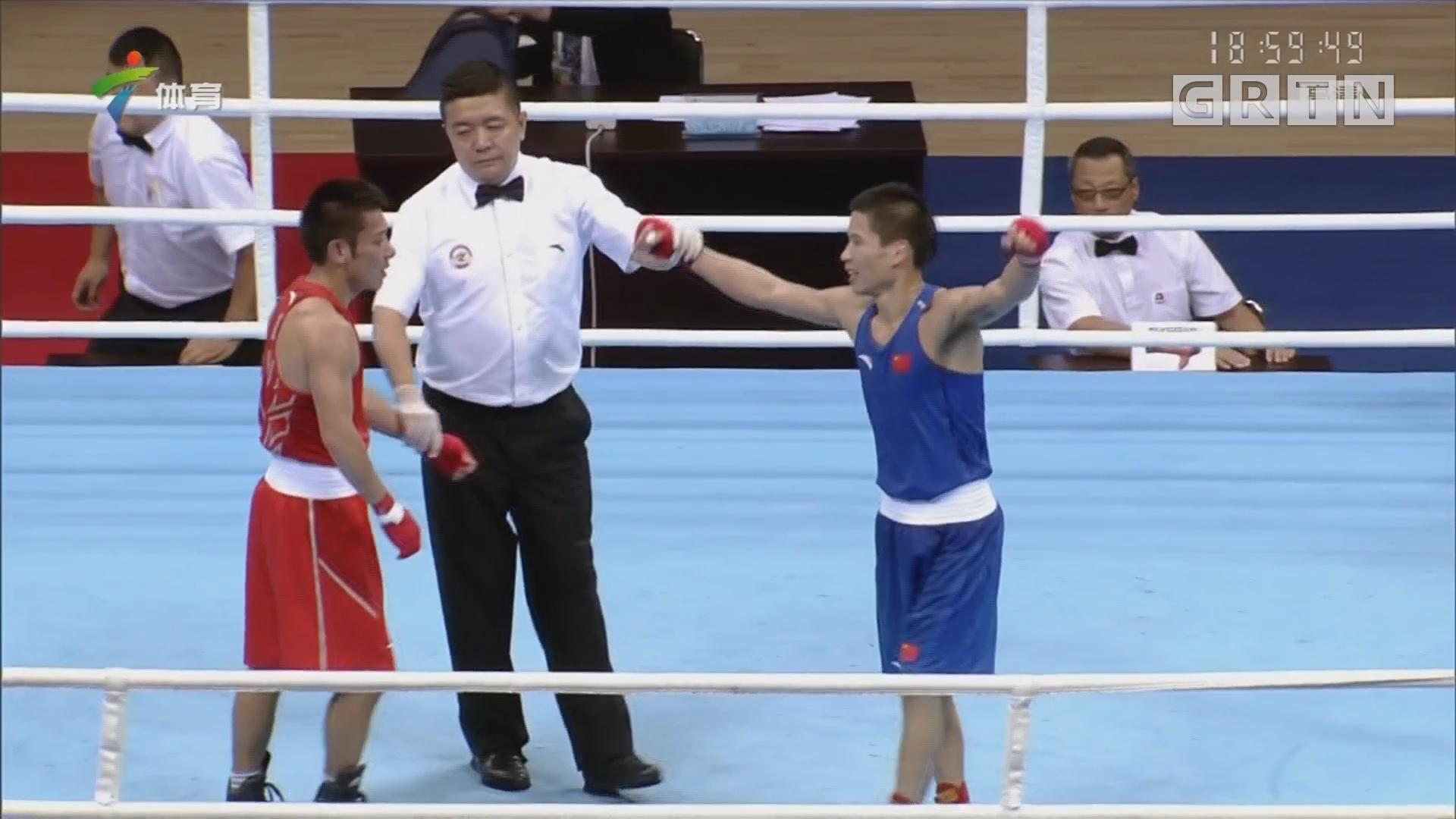广东选手吕斌夺全运会拳击男子49公斤级金牌