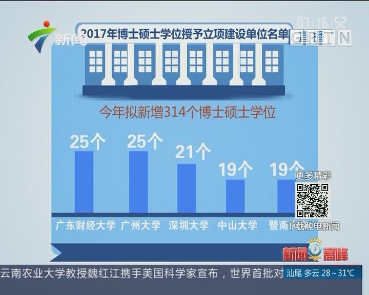 """广东:拟新增314个博士硕士学位点 发力""""新工科""""建设"""
