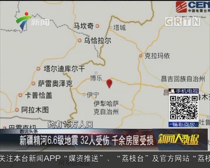 新疆精河6.6级地震 32人受伤 千余房屋受损