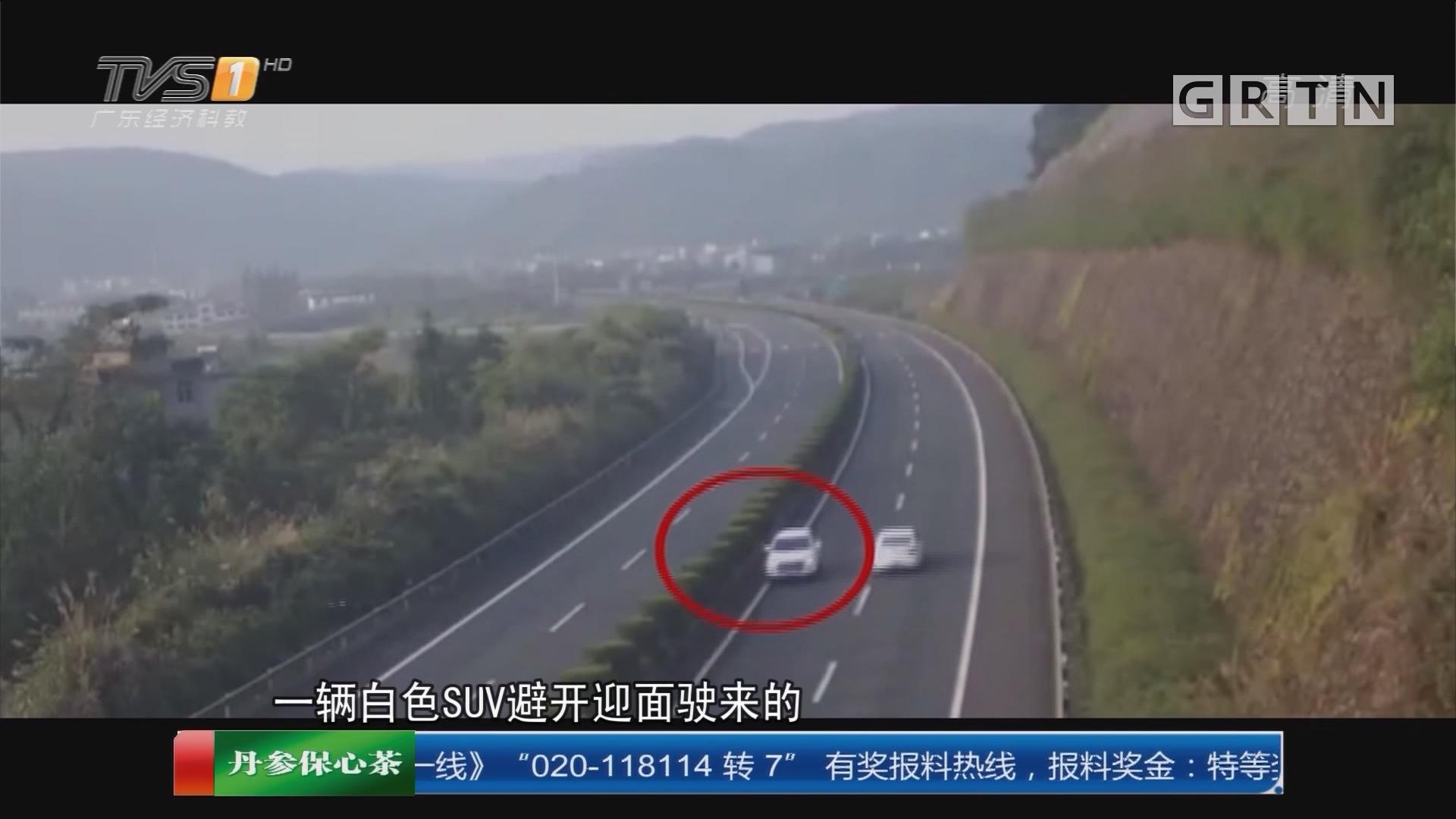 杭州:高速超车道上疯狂逆行二十公里